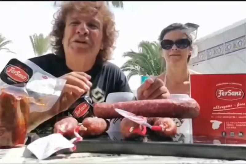 fortu sánchez degusta los embutidos de zamora